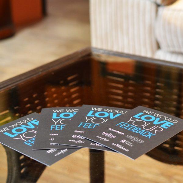Reception Comment Cards