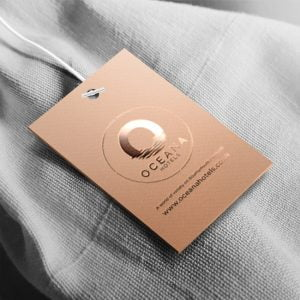 Spa bath robe tag