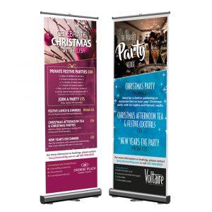 Christmas Roller Banner Printing