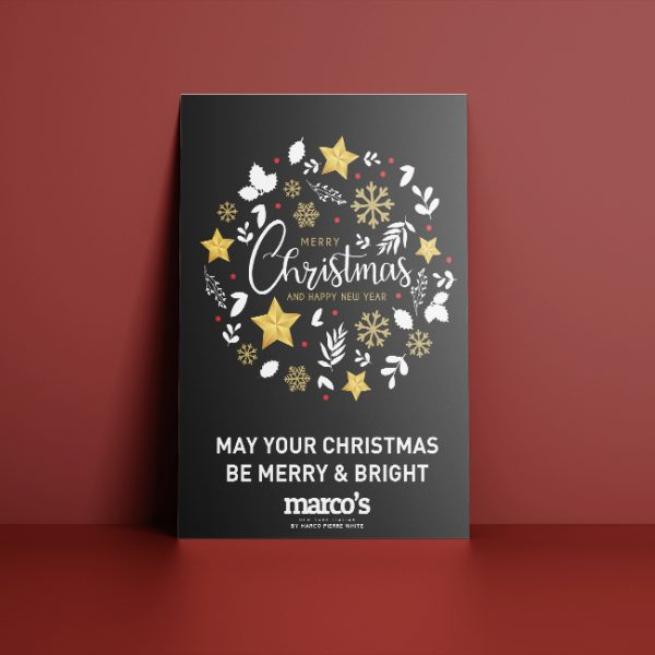 Festive Christmas Hotel Menu Poster