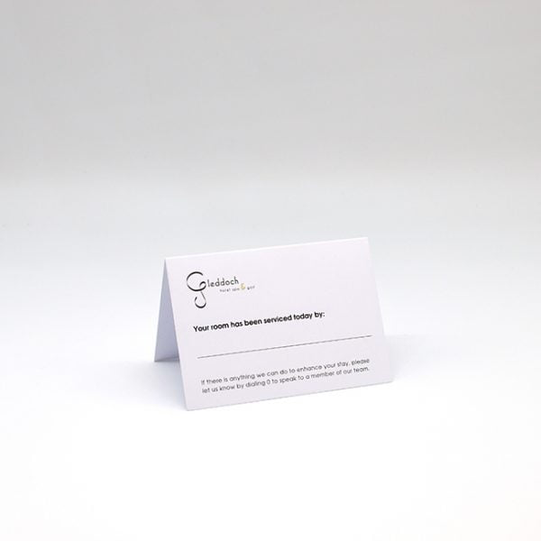 Housekeeping Hotel Tent Card
