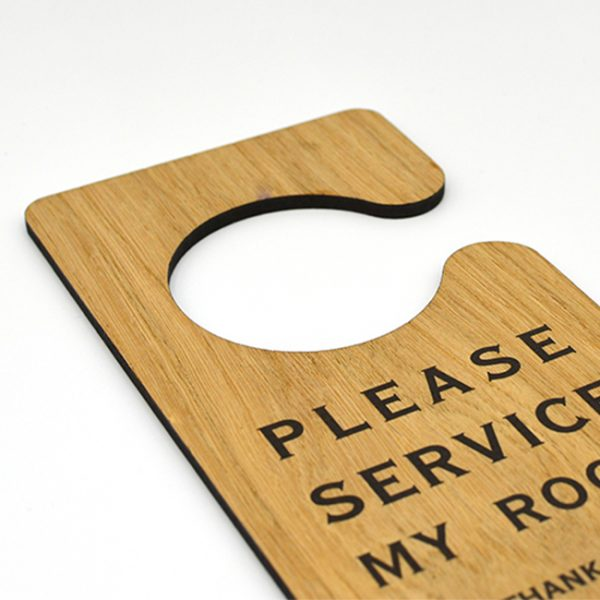 Housekeeping Wooden Door Hangers