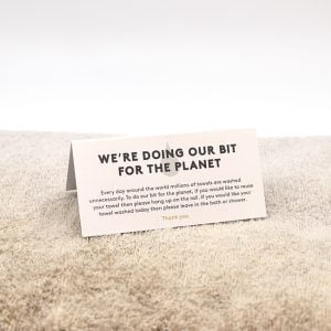 Housekeeping Towel Card Design & Print