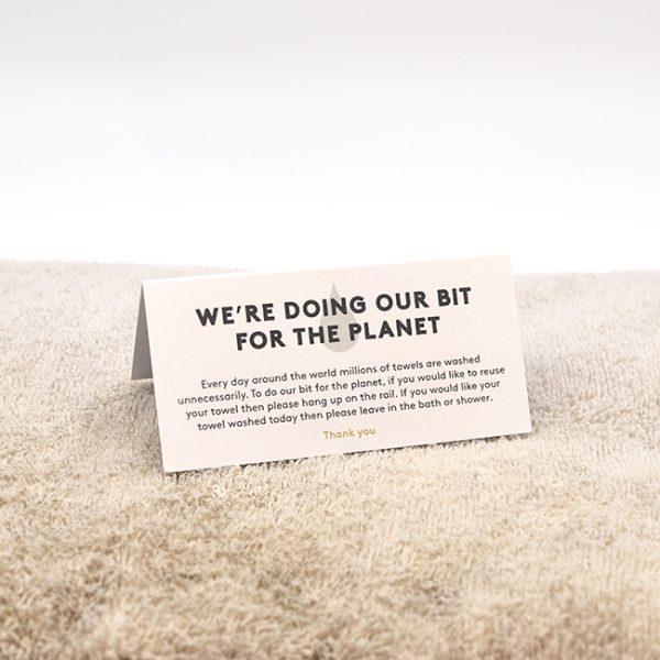 Housekeeping Towel Card Design & Print