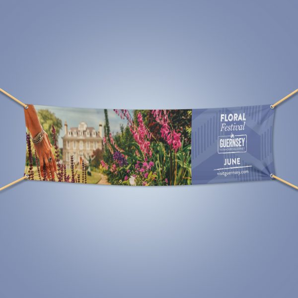 Reception outdoor PVC banner