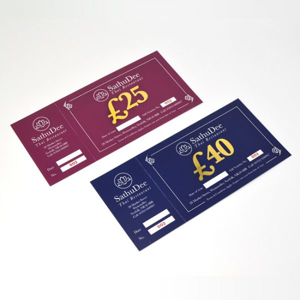 Hotel and Hospitality Gift Voucher Design & Print
