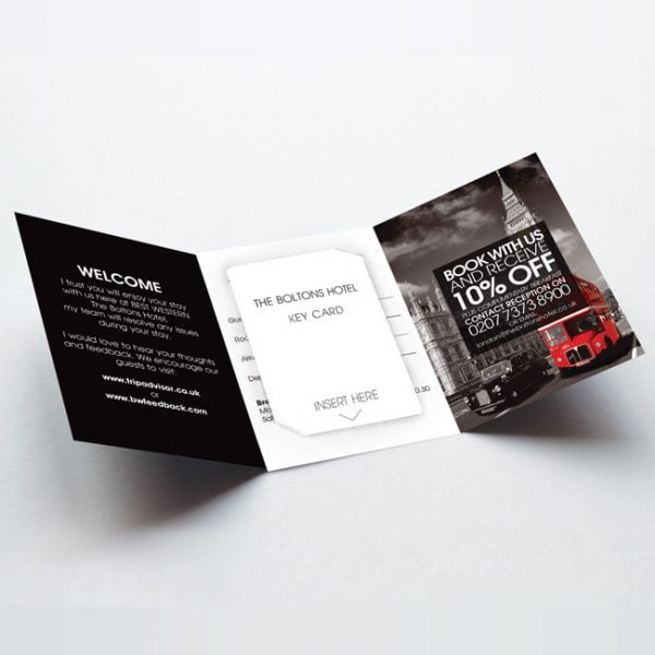 Hotel Reception Key Card Holder Design and Printer