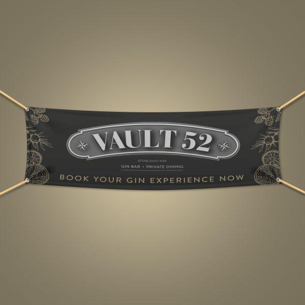Restaurant outdoor PVC banner