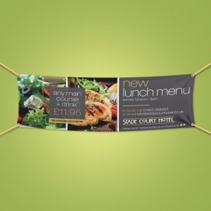Restaurant outdoor PVC banner