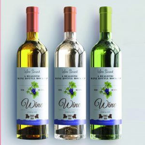 Restaurant custom bottle label design and print