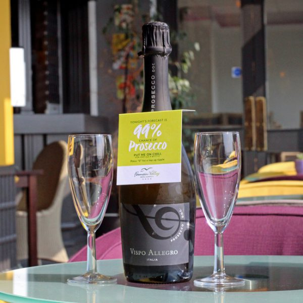 Prosecco Bottle Neck Hanger Printer