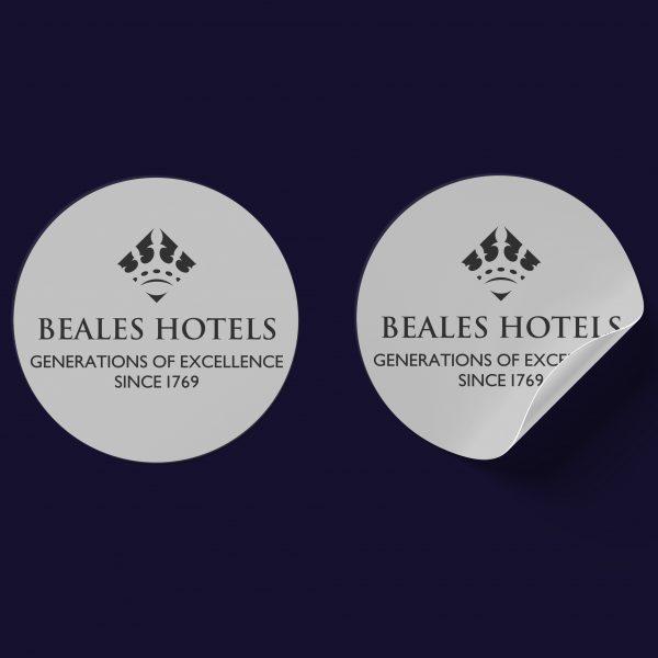 Restaurant sticker print and design