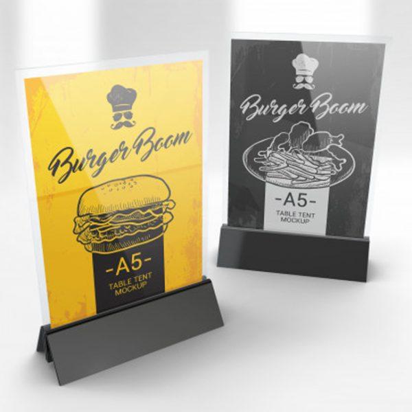 Restaurant Tent Card Design and Print