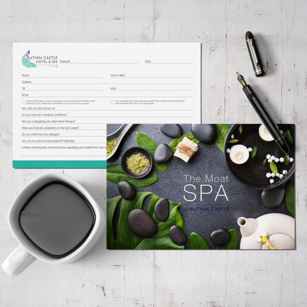 Spa appointment card