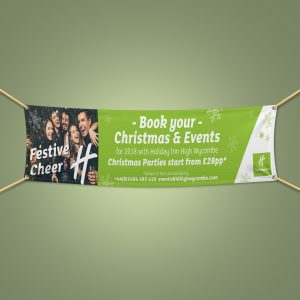 Christmas outdoor pvc banner