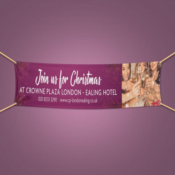 Christmas outdoor pvc banner