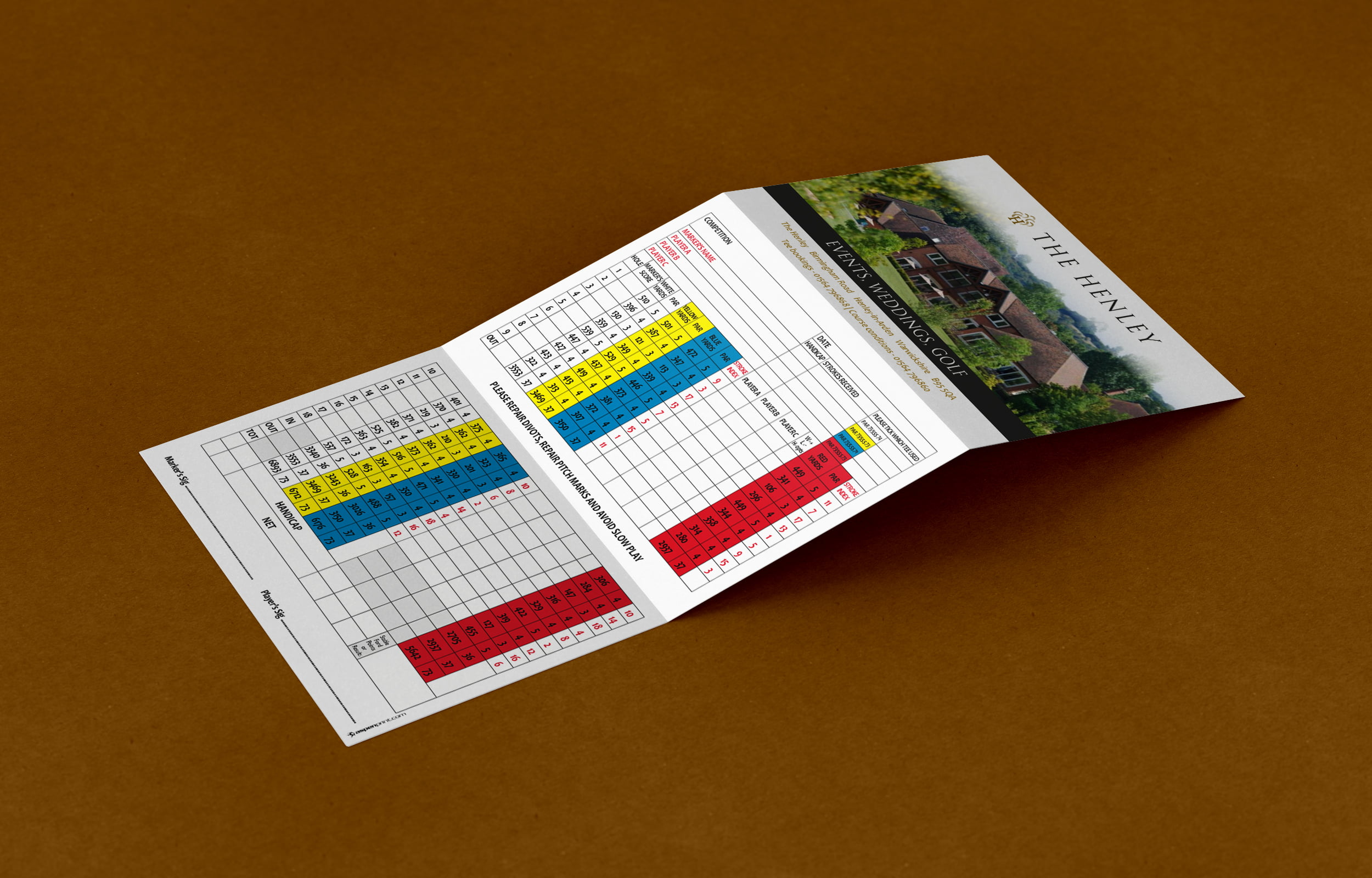 Golf Score Cards