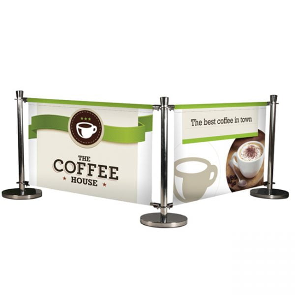 Restaurant and Cafe outdoor printed barriers