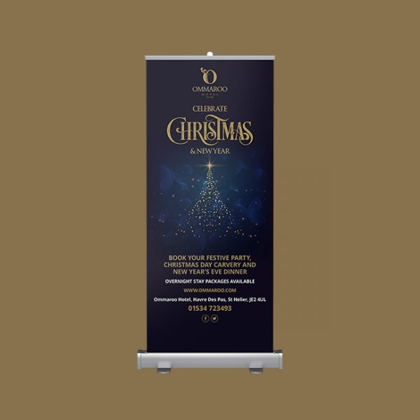 Pull Up Christmas Roller Banners
