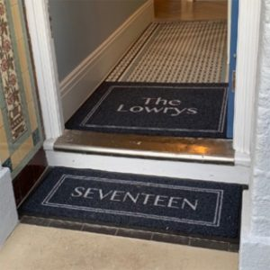 Branded personalised door entrance mat