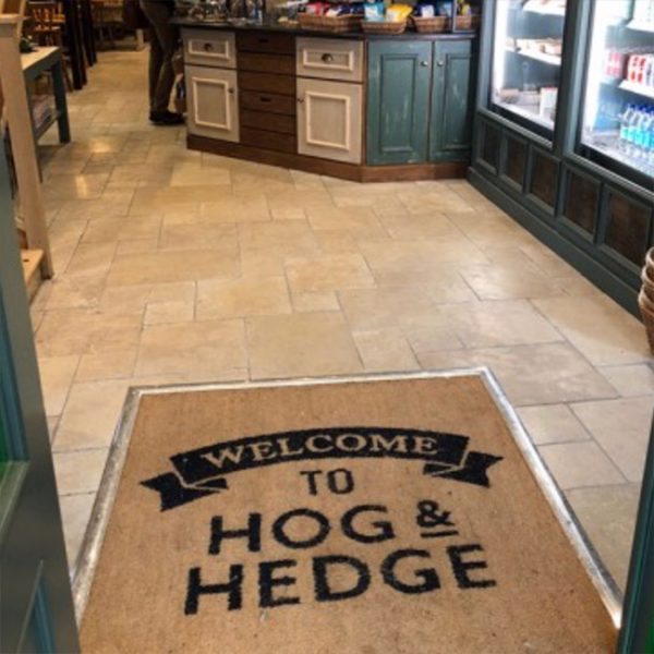 Branded personalised door entrance mat