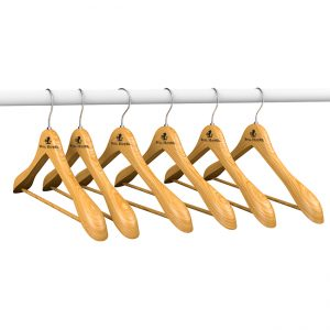 branded coat hanger