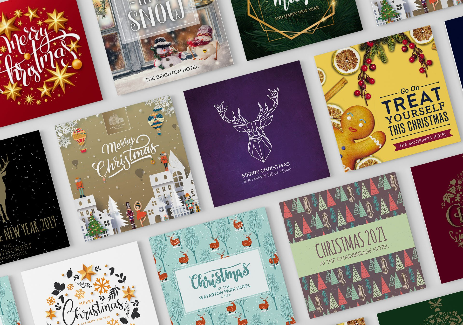 Hotel Christmas Card & Brochure Design