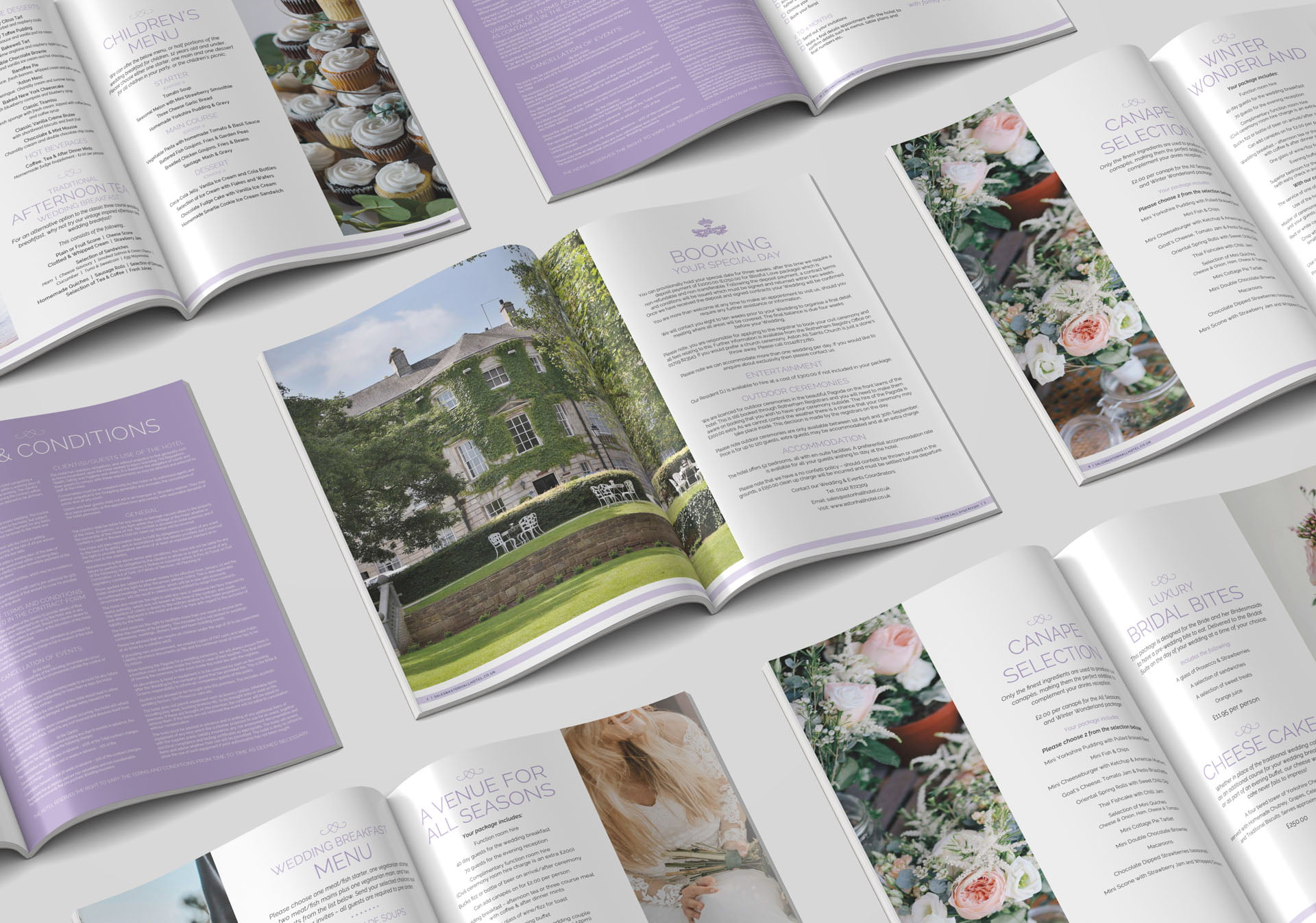 Hotel & Venue Wedding Brochure Design & Print
